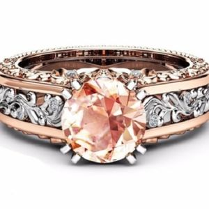 Jewelry - 14K Rose Gold-plated Gemstone CHAMPAGNE Ring 3 KT